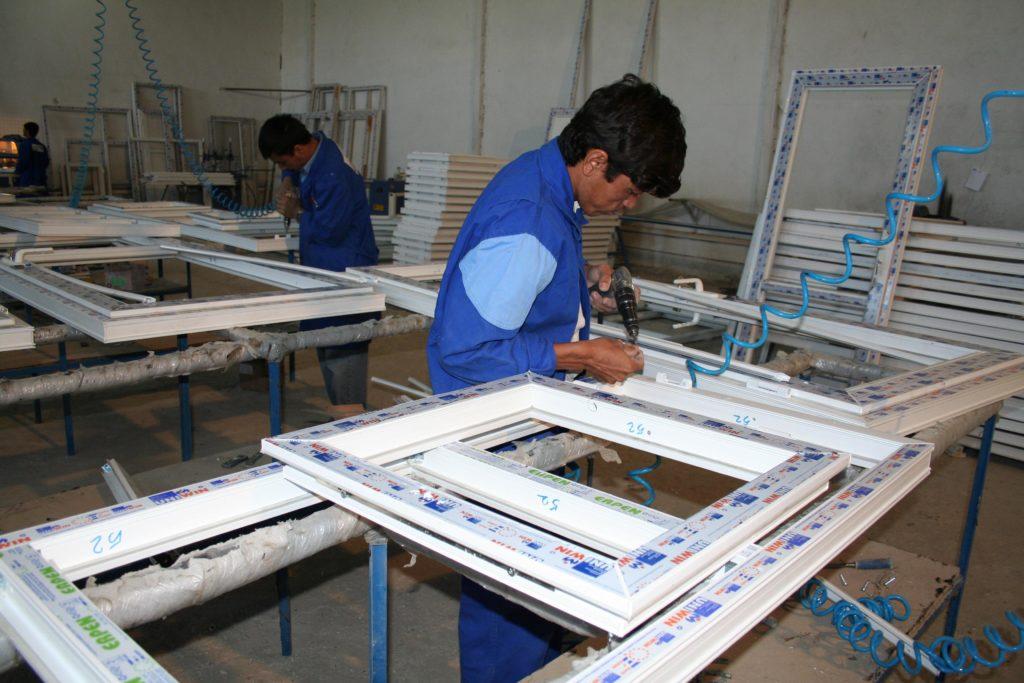 Upvc window fabrication